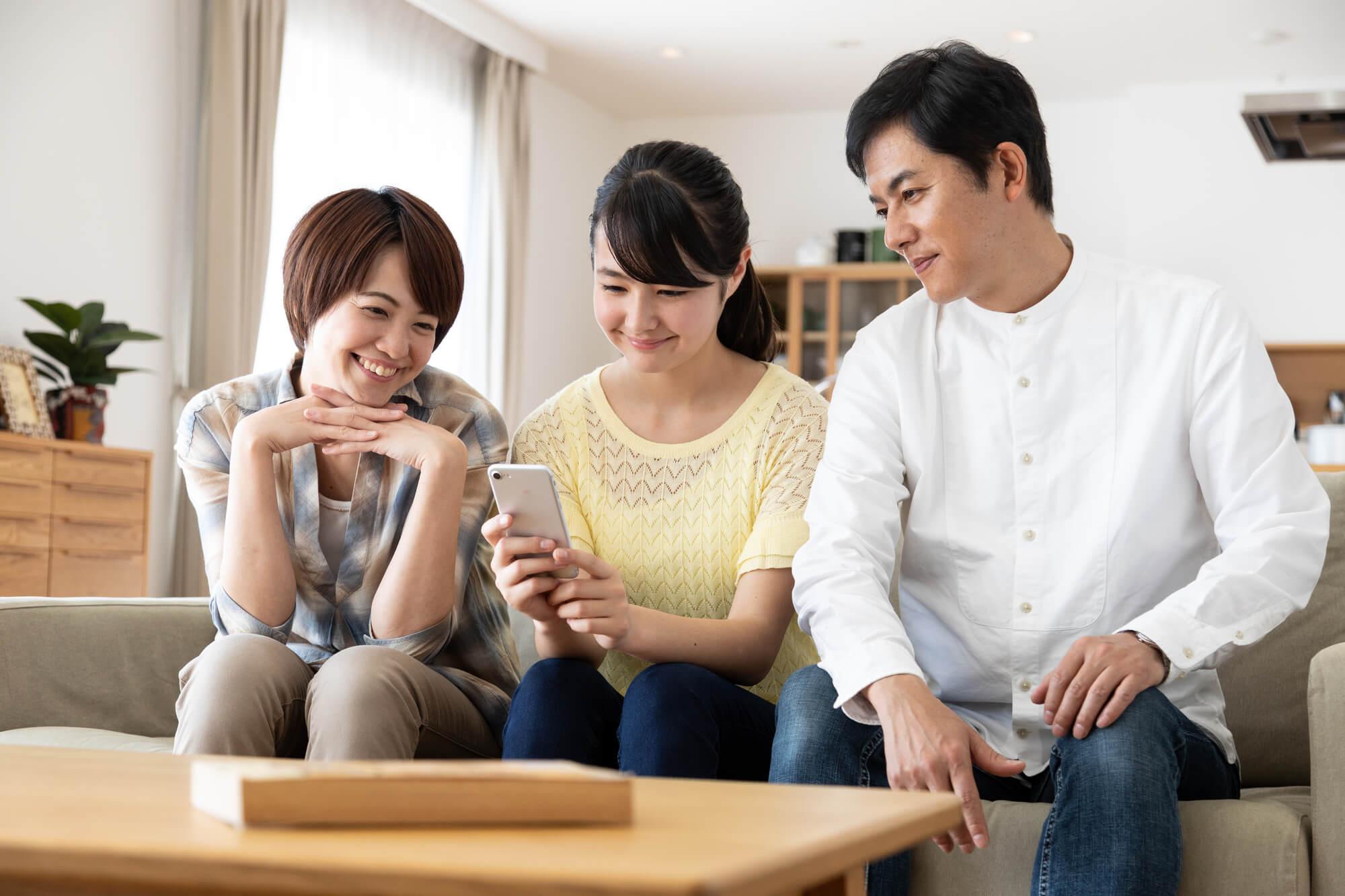 カウンセリングを受けてから、楽しい会話が増えてくるようになった家族